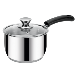 IRIS- BELLY SAUCEPAN-14 CM (1.4Ltr) WITH Glass Lid (IB)