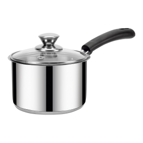 IRIS-STRT SAUCEPAN-14 CM (1.3 Ltr) with Glass Lid (IB)